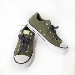 Converse sneakers military green white shell toe 3